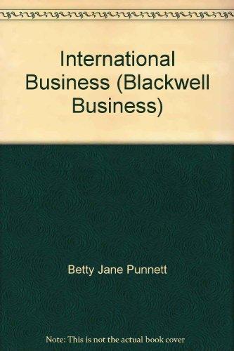 9781577180210: International Business (Blackwell Business)