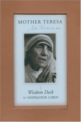 Mother Teresa Wisdom Deck: 50 Inspiration Cards (1577314972) by Mother Teresa