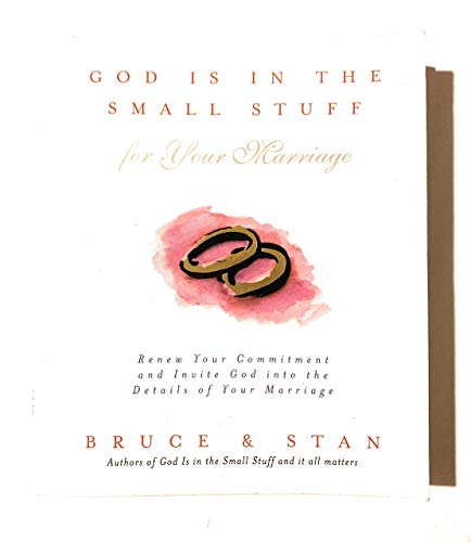 9781577487838: God is in the Small Stuff for Your Marriage