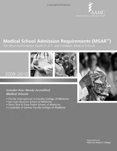 9781577540724: Medical School Admission Requirements (MSAR) 2009-2010: The Most Authoritative Guide to U.S. and Canadian Medical Schools (Medical School Admission Requirements, United States and Canada)
