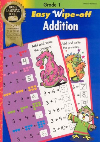 EASY WIPE-OFF : ADDITION : Grade 1 Math (Wipe-Off Workbooks, Learning Tools Series)