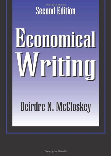 Economical Writing (1577660633) by Deirdre McCloskey