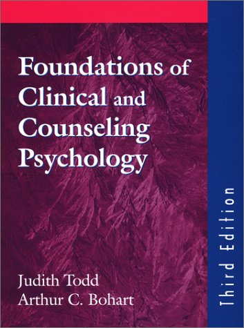 9781577662921: Foundations Of Clinical And Counseling Psychology