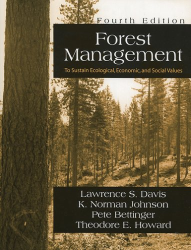 Forest Management: To Sustain Ecological, Economic, and: Lawrence S. Davis;