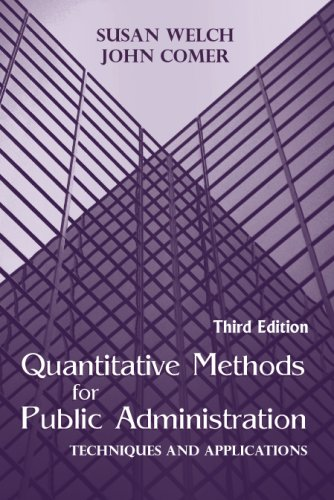 9781577664932: Quantitative Methods for Public Administration: Techniques and Applications