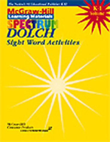 9781577684299: 1: Dolch Sight Word Activities (Spectrum Series)