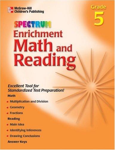 9781577685050: Spectrum Enrichment Math and Reading, Grade 5