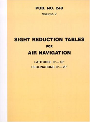 9781577851950: Sight Reduction Tables for Air Navigation, Volume 2: Latitudes 0° to 40° Declinations 0° to 29°
