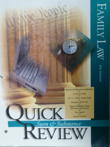 9781577930075: Family Law (Quick Review Book Outline Series)