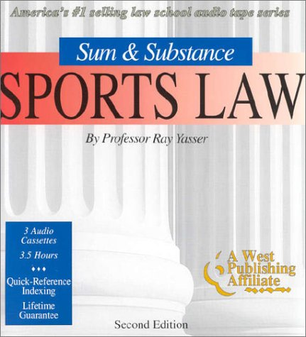 9781577930235: Sports Law (Set of 3 Audio Cassettes) (The