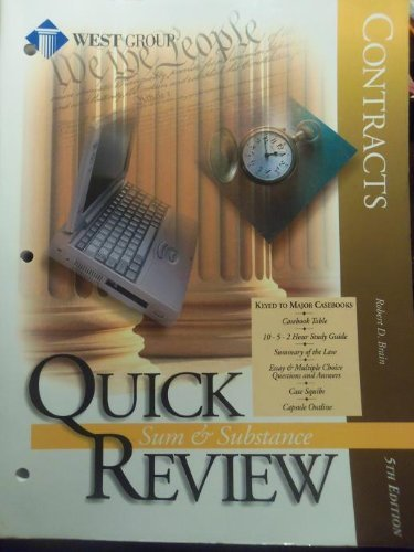 9781577930525: Contracts (Sum & Substance Quick Review)