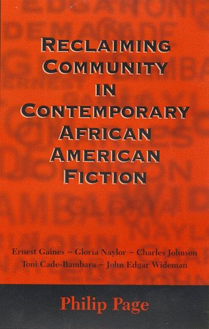 9781578061235: Reclaiming Community in Contemporary African American Fiction