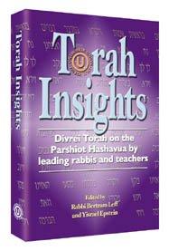 9781578195435: Torah Insights: Divrei Torah on the Parshiot Hashavua by leading rabbis and teachers [Paperback]