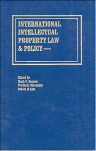 International Intellectual Property Law & Policy - Volume 2.: Hansen, Hugh C. (ed).