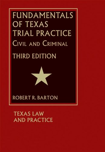 9781578232611: Fundamentals of Texas Trial Practice - 3rd Edition