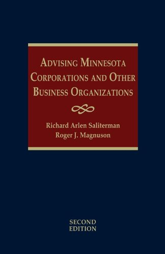 9781578233120: Advising Minnesota Corporations and Other Business Organizations - 2nd Edition - 3 Volume Set