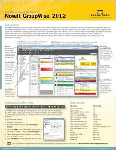 9781578303373: Novell GroupWise 2012 Training Reference Card - Tips, Tricks, Help, & Shortcuts - 6 Page Tri-Fold Guide (Software Quick Reference Cards) by BrainStorm Inc. (2012-05-04)