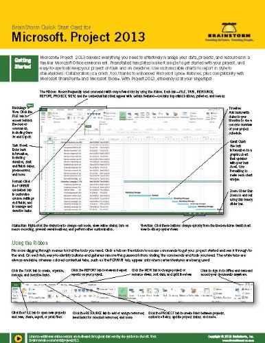 9781578303502: Microsoft Project 2013 Training & Quick Tips, Tricks & Shortcuts - 6 Page Tri-Fold (Software Quick Reference Cards)