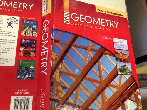 Geometry Learning In Context Teacher's Edition: Communications, Cord