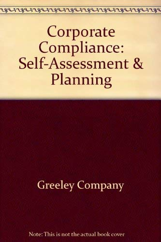 9781578390205: Corporate Compliance: Self-Assessment & Planning