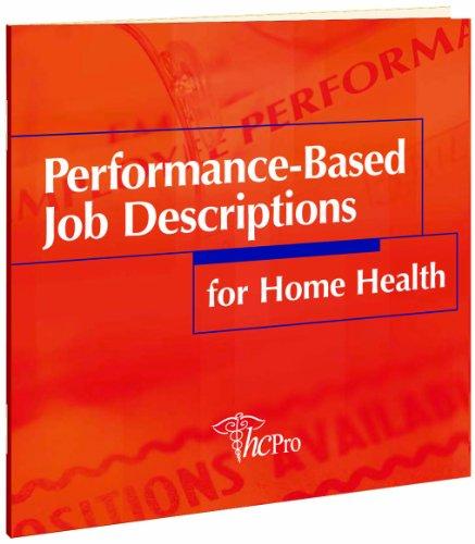 9781578395248: Performance-Based Job Descriptions for Home Health CD-ROM