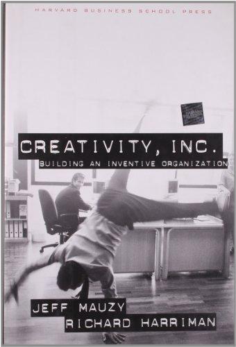 9781578512072: Creativity Inc.: Building an Inventive Organization