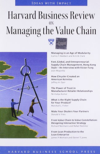 """9781578512348: Harvard Business Review on Managing the Value Chain (""""Harvard Business Review"""" Paperback S.)"""