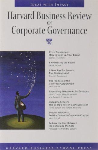 Harvard Business Review on Corporate Governance (Harvard: Walter J. Salmon,