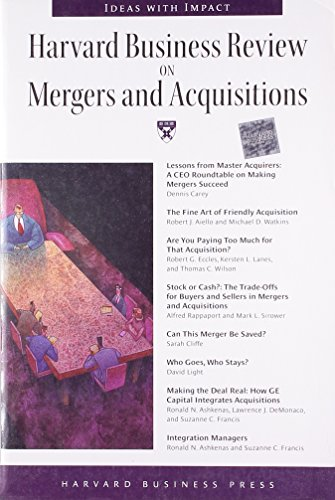 9781578515554: Harvard Business Review on Mergers and Acquisitions