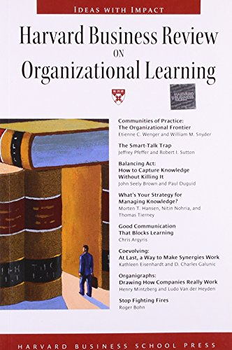 9781578516155: Harvard Business Review on Organizational Learning