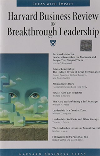 9781578518050: Harvard Business Review on Breakthrough Leadership