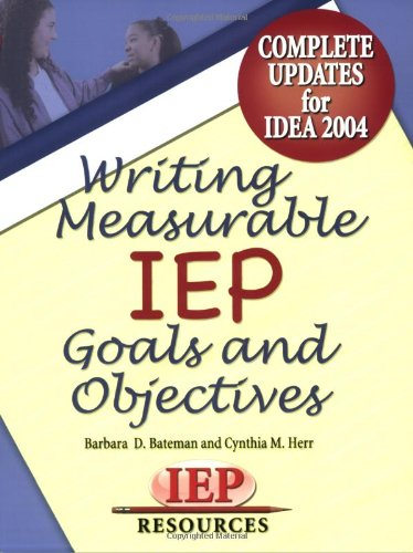 writing measurable iep goals