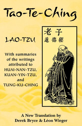 Tao-Te-Ching: With summaries of the writings attributed: Lao-Tzu; Bryce, Derek;