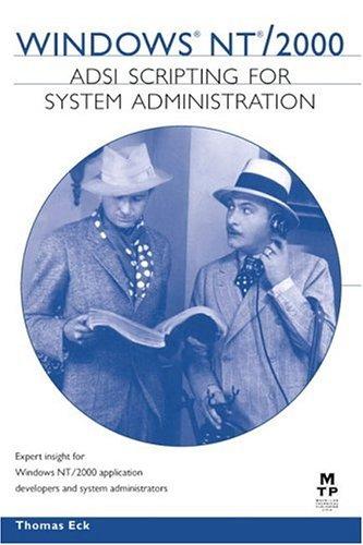 9781578702190: Windows 2000 ADSI Scripting for System Administration