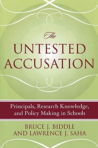 9781578861934: The Untested Accusation: Principals, Research Knowledge, and Policy Making in Schools