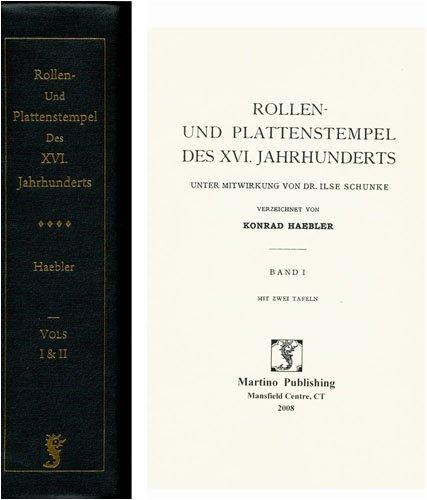 9781578982400: Rollen-und Plattenstempel Des 16 (German Edition)