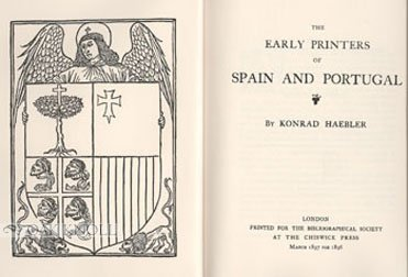 The Early Printers of Spain and Portugal