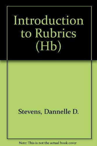 9781579221140: Introduction to Rubrics (Hb)