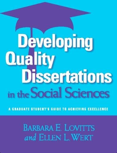 Developing Quality Dissertations in the Social Sciences: Lovitts, Barbara E.;