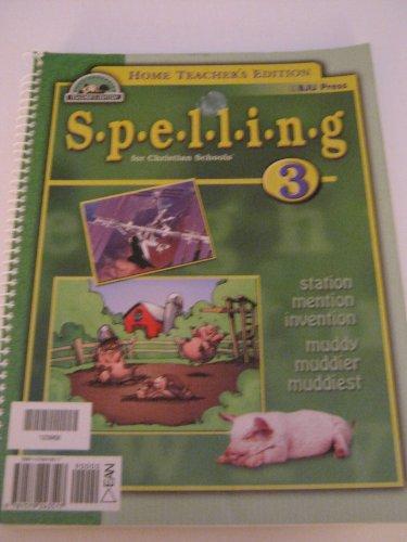 Spelling 3 - Teacher's Edition: Bob Jones