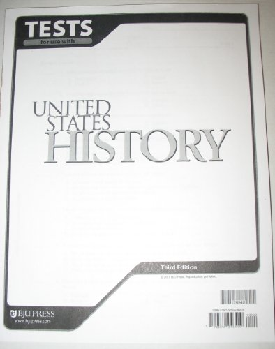 9781579246419: United States History for Christian Schools: Tests for use with