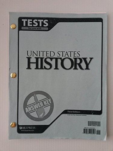 United States History Tests Answer Key 3rd: 129957