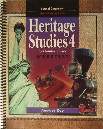 9781579246655: Heritage Studies 4 Worktext Answer Key 2nd Edition