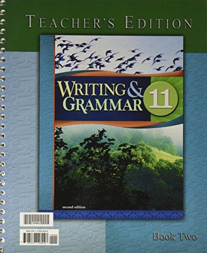 9781579248048: Writing & Grammar for Christian Schools Teacher's 11 Edition Bob Jones University BJU 2nd Ed