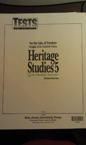 9781579248796: Answer key for Tests for Use with BJU Heritage Studies 5