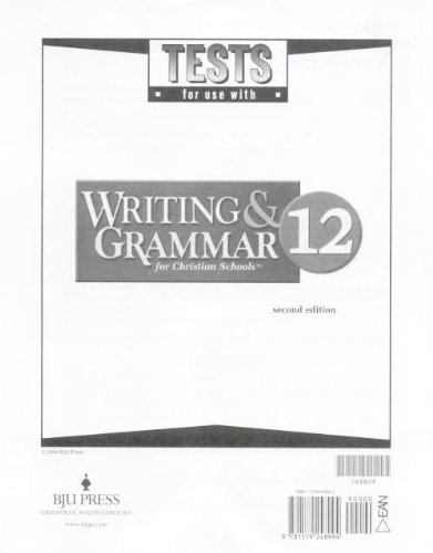 9781579248994: Writing and Grammar 12 Tests 2nd Edition