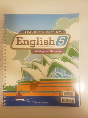 9781579249410: English 5 for Christian Schools Writing and Grammar