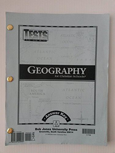 Tests for Use with Geography for Christian