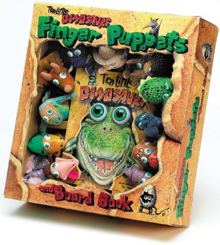 9781579391157: Ten Little Dinosaurs Finger Puppet and Board Book with Finger Puppets (Eyeball Animation!)