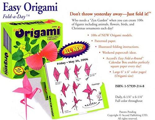 9781579392147: 2006 Easy Origami Fold-a-Day Calendar
